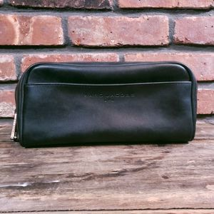 Marc Jacobs Men Faux Leather Lined Toiletry Bag